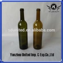 750ml high quality red glass wine bottles for sale