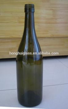 750m green brown glass antique fancy liquor glass decorative tall red wine glass bottle wholesale pi