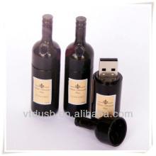 Red wine usb flash drive wedding gift usb memory stick bottle shape usb flah drive