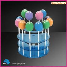 Clear Round Acrylic Lollipop Display Holder
