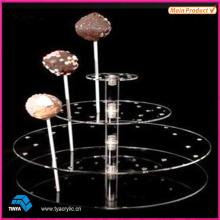 Hot Sale 4 Tier Clear Acrylic Round Lollipop Display Rack