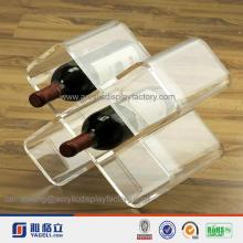 high clear Exclusive shop acrylic red wine display rack