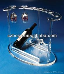 A full set of acrylic red wine rack with good quality for sale
