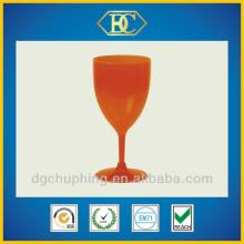 Single wall,transparent  plastic   red   wine  cup for party