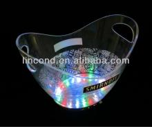 For Champagne color changing acrylic led ice bucket for club
