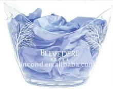 Hot sale 8L big acrylic clear wine cooler ice bucket for chilling champagne