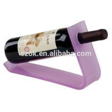 Countertop single high quality acrylic red wine display rack