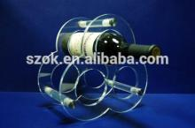 Clear handmade high quality acrylic red wine rack for sale