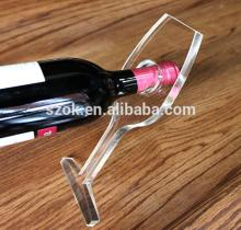 Countertop clear top grade acrylic red wine rack for sale
