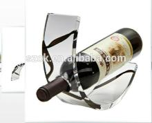 Curved clear top grade  acrylic  red  wine   rack ,  acrylic   wine   rack