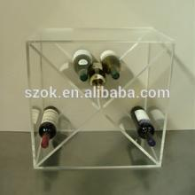 Large clear desktop acrylic red  wine   rack  for sale from China