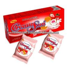 Strawberry Milk Cream Biscuits