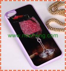 2014 Hot sale Red wine glass design case for i phone 5