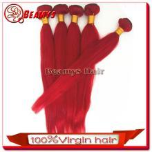 Beamyshair good quality unprocessed virgin Wholesale peruvian red wine hair color