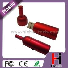 Best choice for gift red wine bottle shape 16gb drive usb flash stick