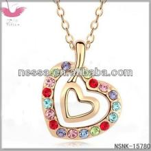 F20903 Dili crystal necklace -- the heartstrings (+ champagne gold color)