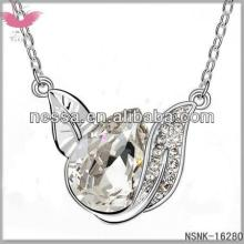 E98722 Austrian  crystal   necklace  - Forever love letter (color + Champagne Gold)
