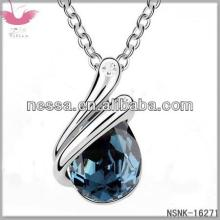E98732 Austrian crystal necklace - Forever love letter (Rose + Champagne Gold)