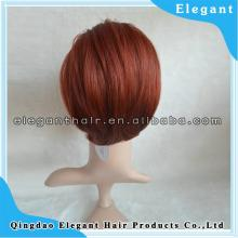 made in qingdao company red wine synthetic hair ponytail with cheap price for wholesale