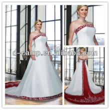 WD-1882 Stunning two tone red wine and ivory wedding dresses ...