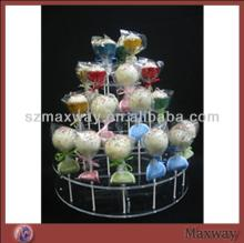 2014 Hot Selling Large Lovely Acrylic/Plastic Lollipop Cake Pop Display Stand