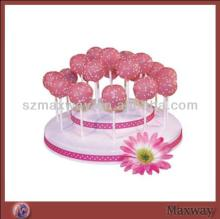 2014 Large Square Simple Pink Plastic/Acrylic Lollipop Cake Pop Display Stand