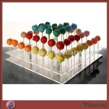 2014 Large Square Tiers Plastic/Acrylic Lollipop Cake Pop Display Stand