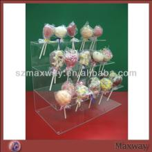 2014 Hot Selling  Large  3 Tier Lovely Acrylic/Plastic Lollipop Cake Pop Display Stand