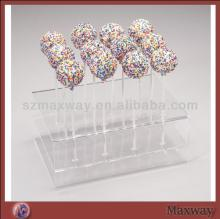 Clear DIY Plastic Acrylic Lollipop Holder  Push   Cake  Pop Stand