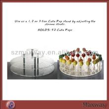Transparent Round DIY Plastic Acrylic Plate Lollipop Display Holder Push Cake Pop Stand