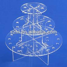 3 tiered  cake  pop lollipop display stand acrylic  cake   push  pop stand