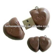heart shape usb chocolate gift