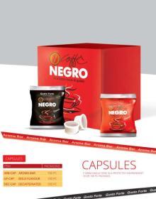 Original Italian Coffee Capsules Caffe Negro