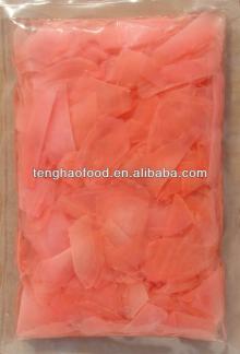 Pickled ,sour sweet ,pink sushi ginger
