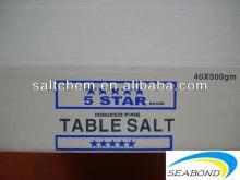 pure dried vacuum salt packed to cartons box ,pdv salt