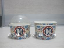 Custom Print Single Wall Paper Frozen Yogurt Cup