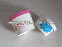 Biodegradable Recycle Custom Frozen Yogurt Paper Cups With Lids