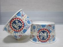 OEM printing disposable paper frozen yogurt cups