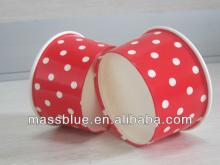 Printed Colorful Disposable Paper Frozen Yogurt Bowl/lce Cream Paper Cup For Ice Cream