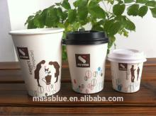 Custom logo Printed Disposable Single Wall  Paper   Hot   Cup  with Lids