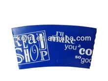 eco-friendly customized printed  paper   hot   cup  sleeve