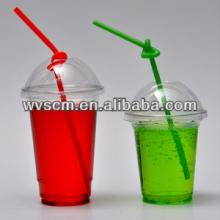 Transparent Take Away Clear Plastic Cup and Dome Lid