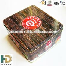 High quality tea tin box manufacturer empty tins