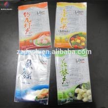 Custom printed OPP PE laminated plastic frozen food packaging bag for fish ball and fish cake packag
