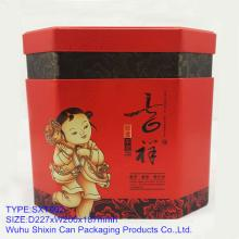 2013 newly chinese Propitious  tea   tin   tea   can  welcoming packaging
