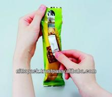 Easy open chocolate bars packaging pouch