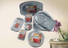 household round aluminium container is well used for food catering