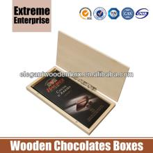 Unfinished Silk Smoothy Wooden Chocolate Bar Boxes