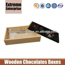 Chocolate s Bar  Wooden   Box es with Clear Window