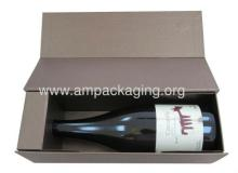 luxury paper wine packaging cardboard rigid box with fitment insert